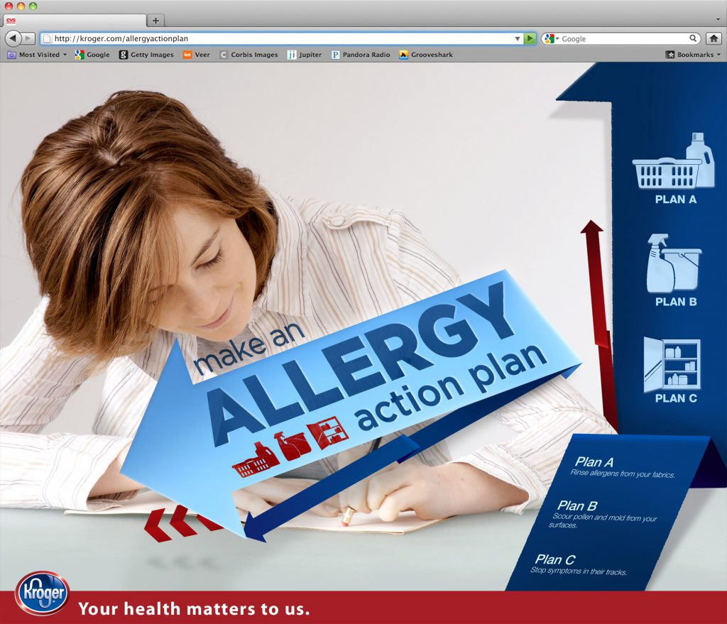 Kroger Allergy Action Plan Microsite