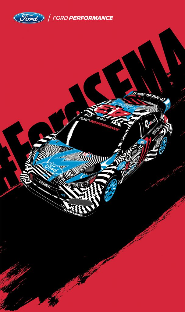 Ken Block SEMA Illustration